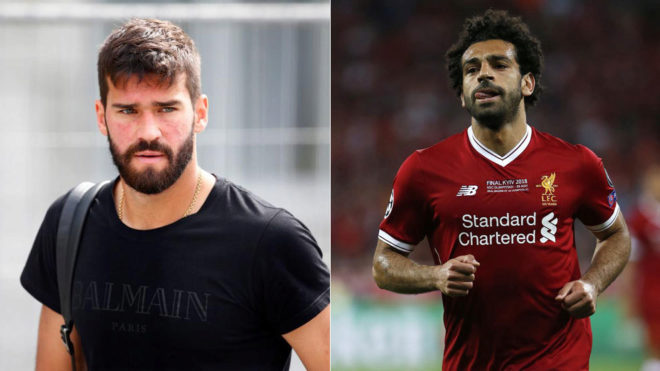 Alisson reveals a special text message from Salah