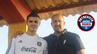 Abián Morano junto a Mauro Icardi.