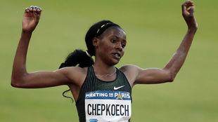 Beatrice Chepkoech, en carrera