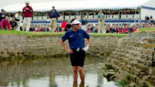 Jean van de Velde, en el hoyo 18, en el British 1999.