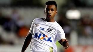 Rodrygo Goes, en un partido con el Santos.