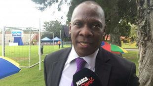 Jair Mina, tío y representante de Yerry, durante sus declaraciones a...