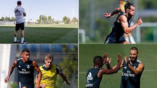 Imágenes del entrenamiento de este sábado