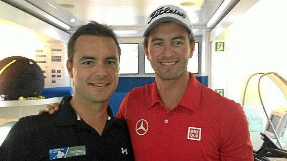 Álvaro Zerolo, junto a Adam Scott, exnúmero 1 mundial.