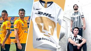 Playeras de diferentes equipos de Liga MX