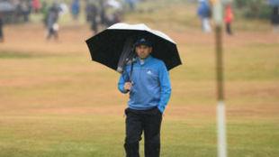 Sergio García, durante la segunda jornada del British Open.