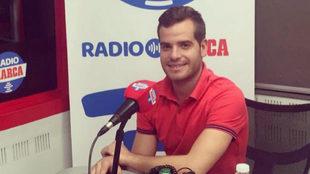 Roberto Martín, en los estudios de Radio MARCA