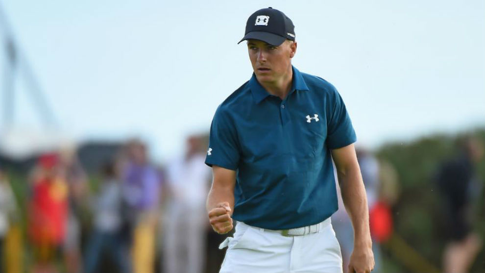 Jordan Spieth tied, Tiger Woods lurking on final day of British Open
