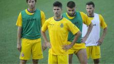 Dídac Vilà, durante un entrenamiento con el Espanyol.