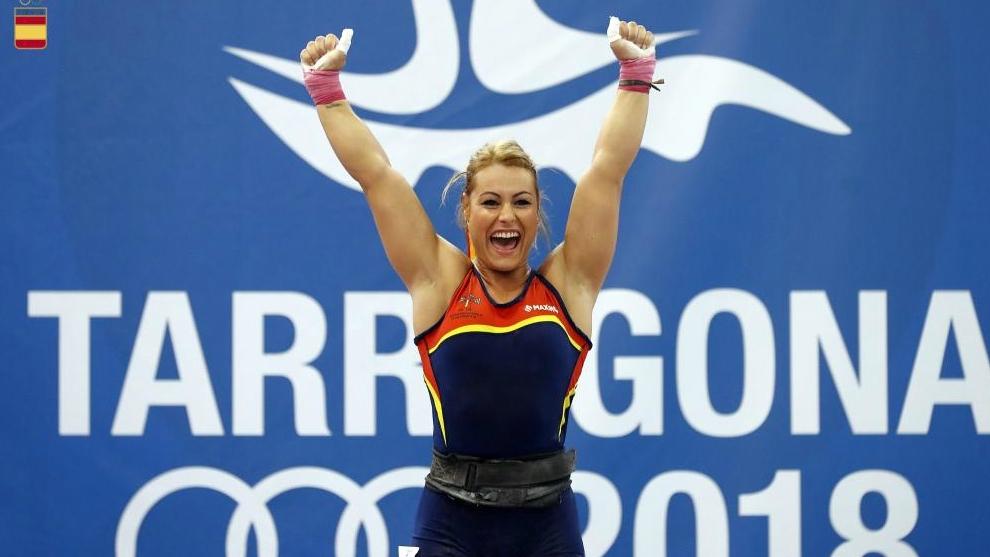 Lydia Valentín, durante los Juegos Mediterráneos de Tarragona.