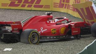 Vettel, K.O., en el GP de Alemania.