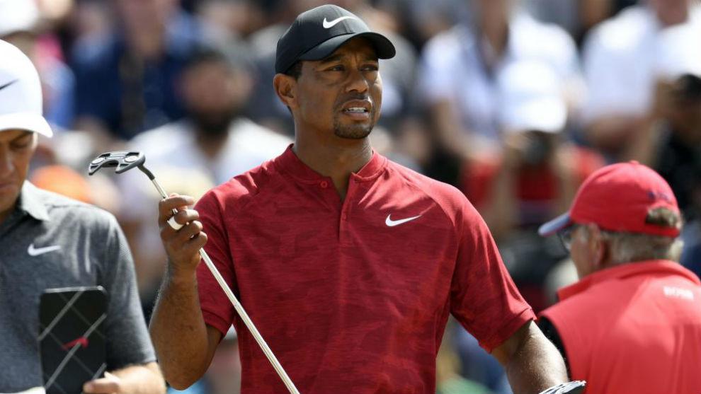 Tiger Woods, durante la última jornada del British Open.