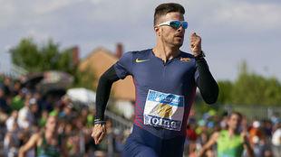 Óscar Husillos, en carrera en el Campeonato de España