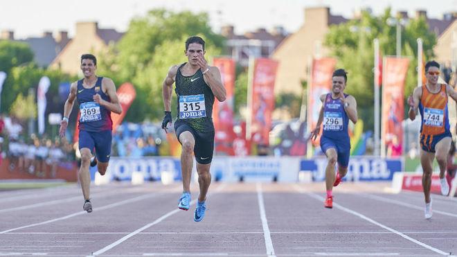 Bruno Hortelano, en la final de los 100 metros