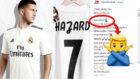 La imagen de Hazard vestido de blanco y el comentario de su hermano