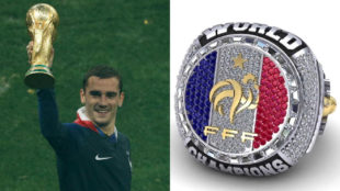 Antoine Griezmann and the world champions ring