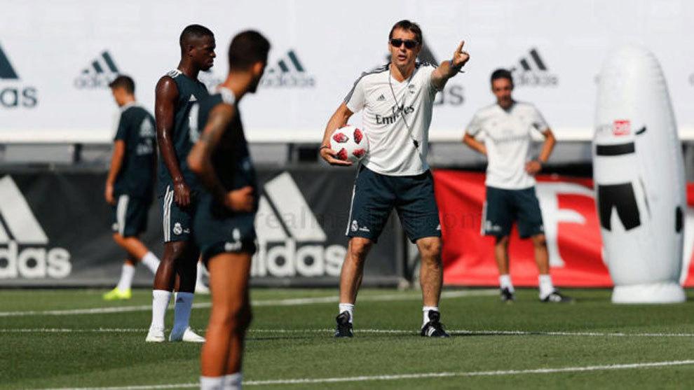 Real  Madrid training session.