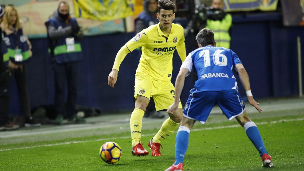 Chuca durante un partido con el Villarreal la pasada temporada.