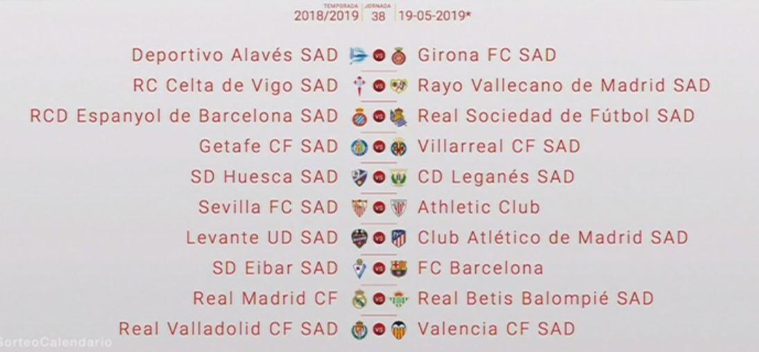 Calendario Celta Vigo.Calendario Liga Santander 2018 19 Las Fechas Clave Del Calendario