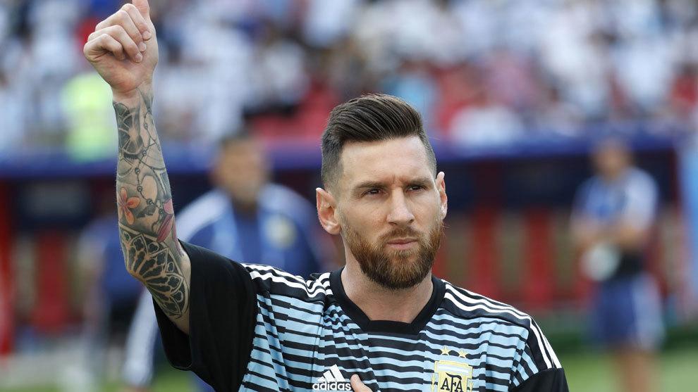 Messi durante el pasado mundial de Rusia