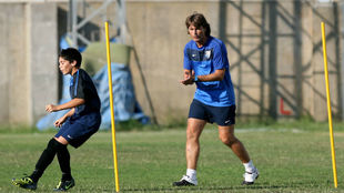 Julen Guerrero, durante su etapa como técnico de categorías...
