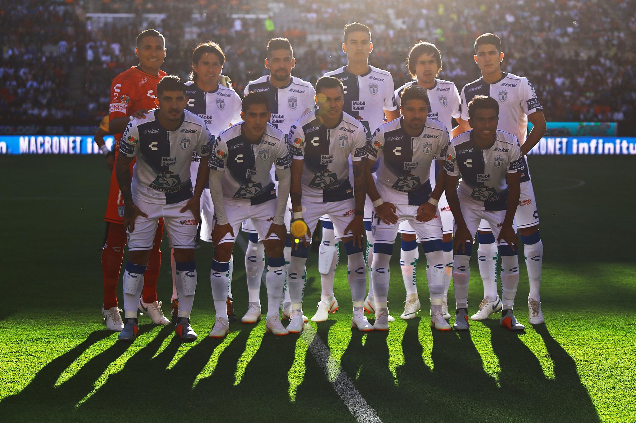 La formación de Pachuca contra Monterrey.