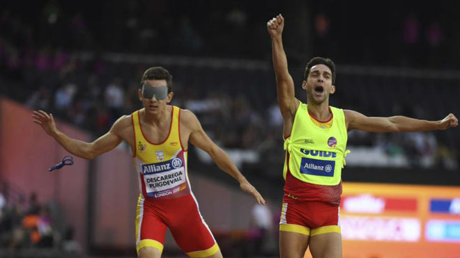 Gerard Descarrega y Marcos Blanquiño, en el Mundial de Londres.
