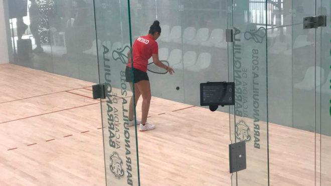 Alexandra en acción en las semifinales