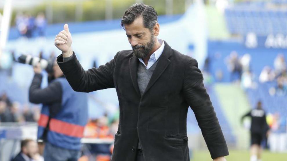Quique Sánchez Flores, durante su etapa como técnico del Espanyol.
