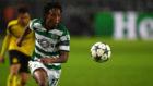 Gelson Martins, en un partido con el Sporting de Portugal