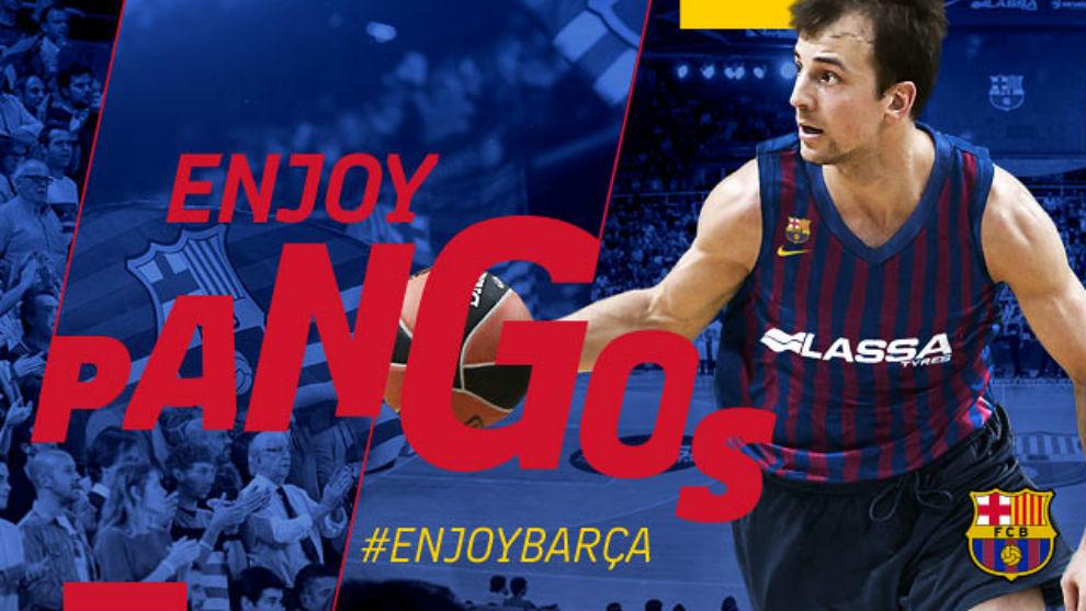 Así daba la bienvenida el Barcelona a Pangos en su web oficial
