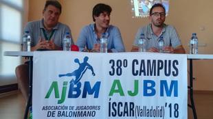 Claudio Gómez, gerente de la AJBM, Iñaki Malumbres y Fernando...