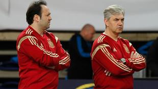 Fede Vidal y José Venancio López, en un entrenamiento