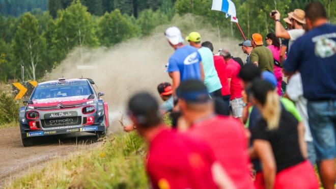 Ostberg, el más rápido de la sesión con su C3 WRC.