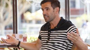David Albelda durante la entrevista a MARCA.