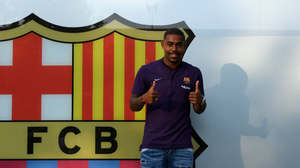 Barcelona's new Brazilian forward Malcom