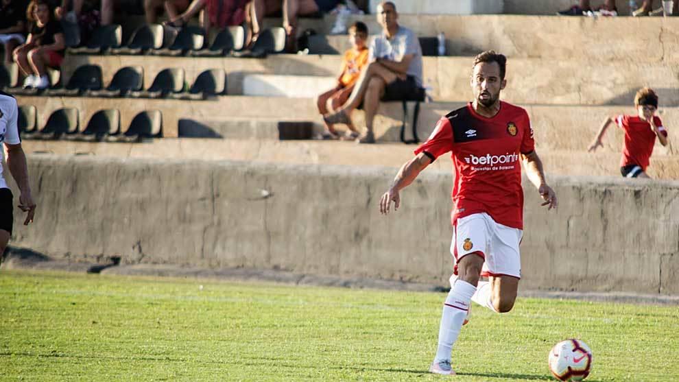 Ferrán Giner volvió a lucir la camiseta del Mallorca en el amistoso...