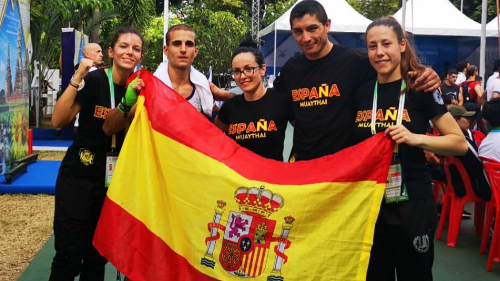 Delegación española en el Mundial Universitario de Muay Thai de...