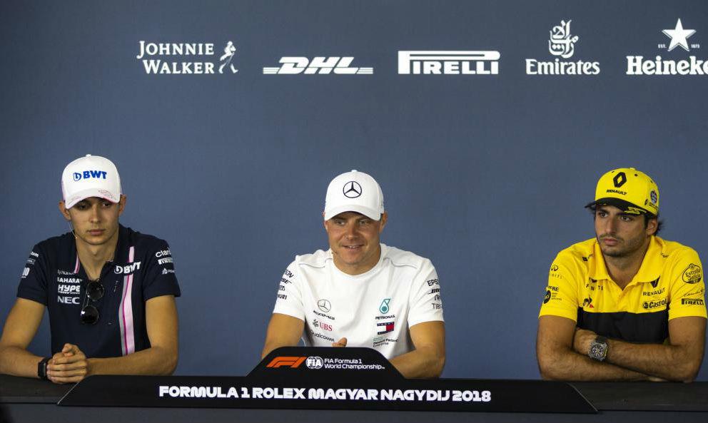 Ocon (Force India) y Sainz, coincidieron en la rueda de prensa del GP...