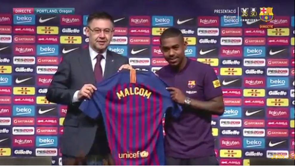 Malcom vows to rise to Barcelona challenge after controversial move