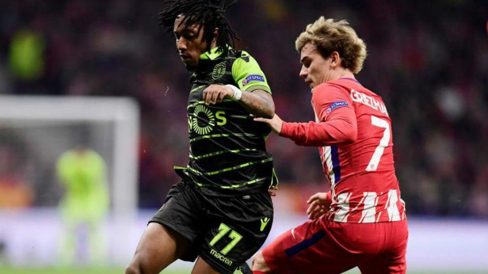 Gelson Martins se enfrentó al Atlético la temporada pasada