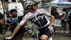 Chris Froome al término de la etapa de Saint-Lary Soulan.