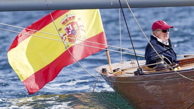 Don Juan Carlos, a bordo del 'Bribón'.