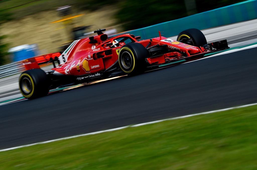 Vettel, durante los entrenamientos libres del GP de Hungría.
