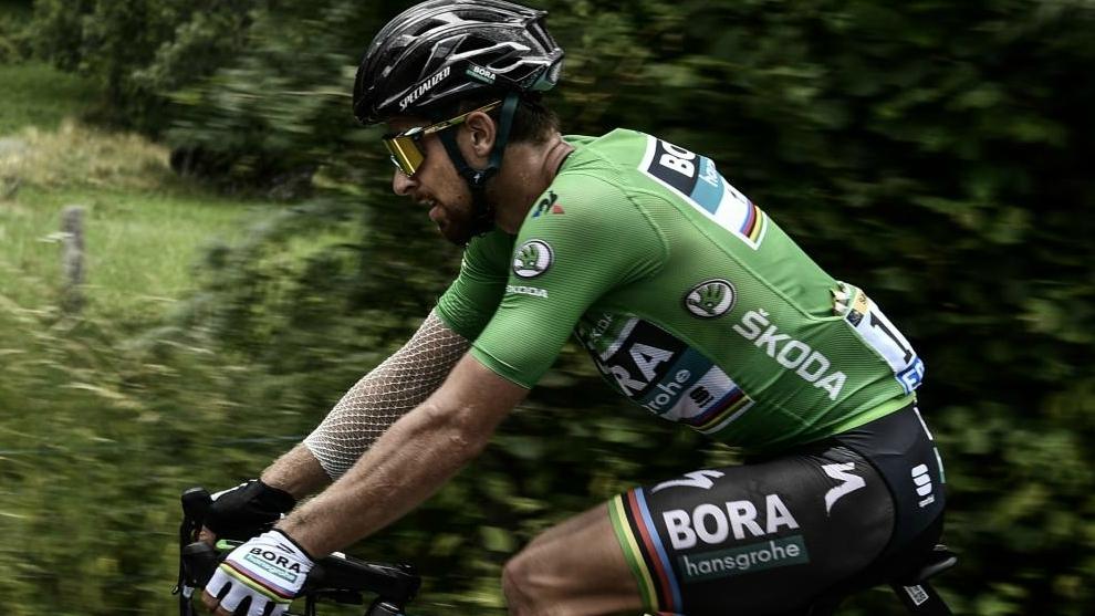 Peter Sagan sufre en el ascenso al Tourmalet.