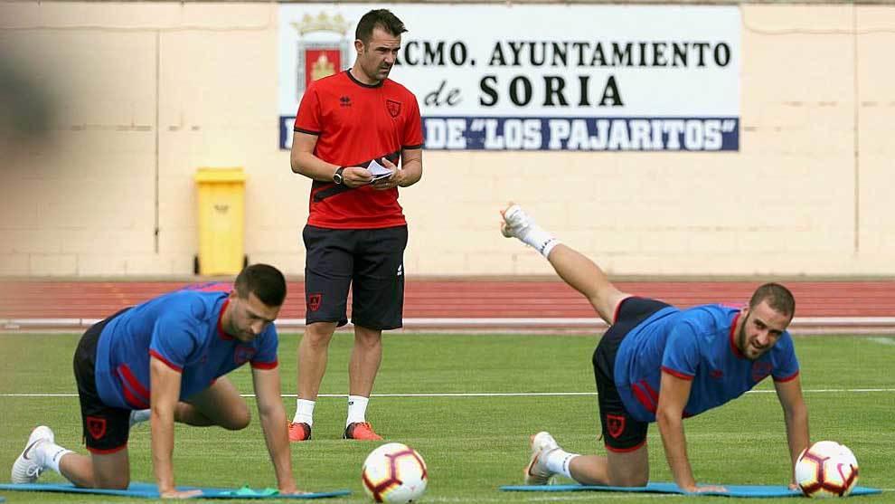 López Garai, durante un entrenamiento en Soria