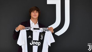 Pablo Moreno, con la camiseta de la Juventus