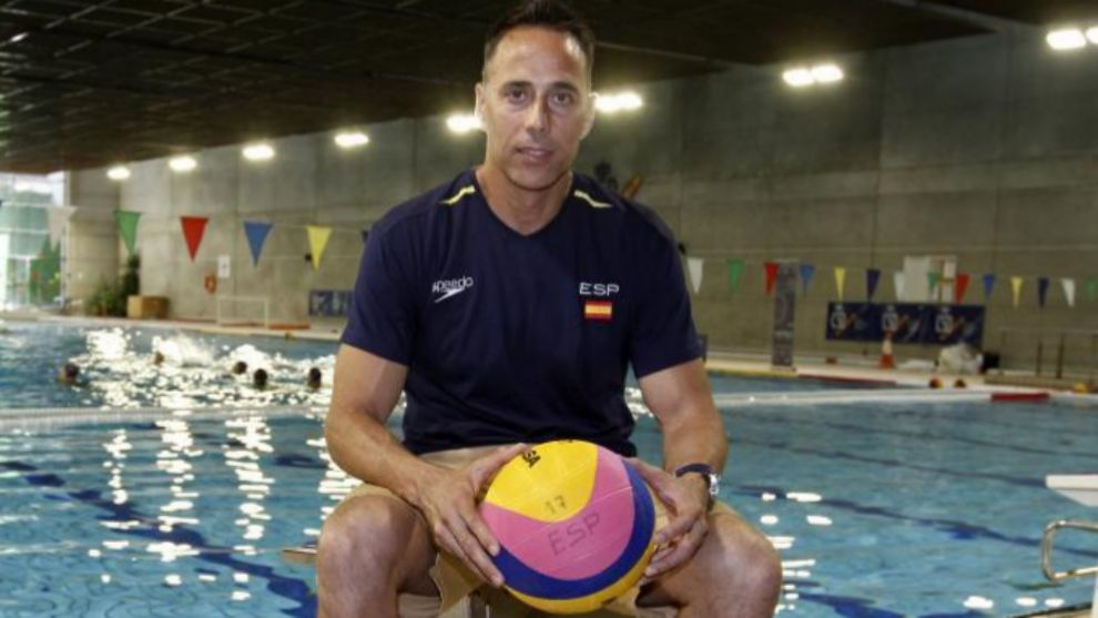 David Martín en la piscina del Consejo Superior de Deportes