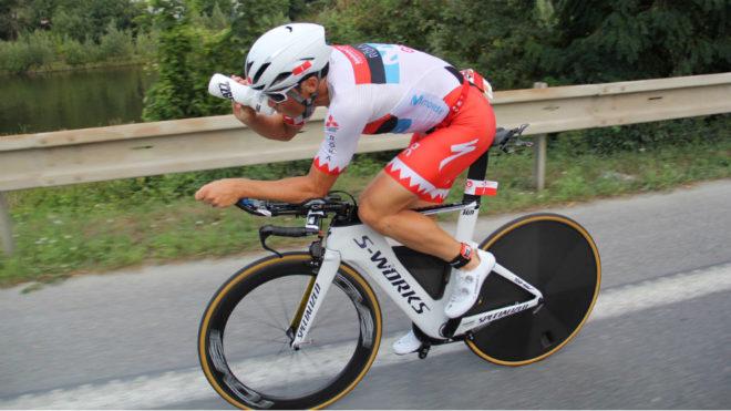 Gómez Noya, en el tramo de bicicleta