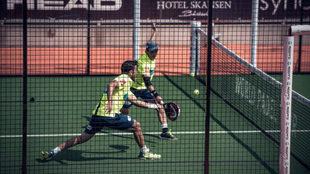 Bela y Lima, durante las semifinales de Bastad.
